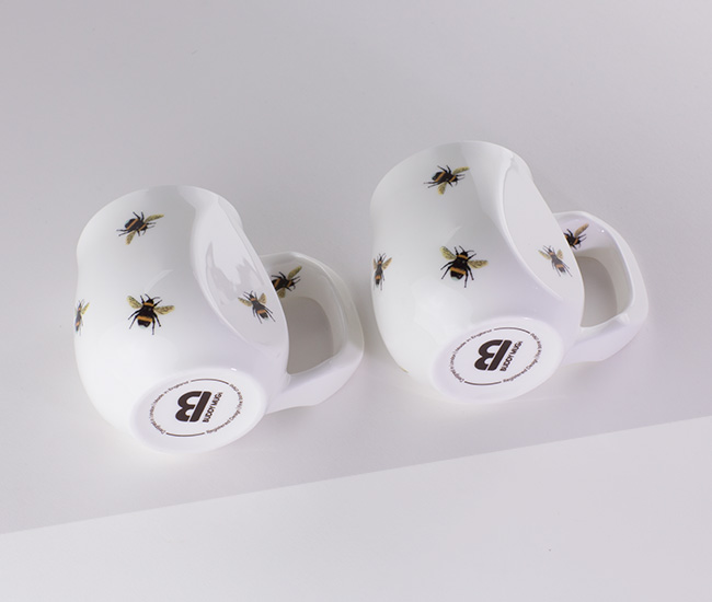 Banded white-tailed bumble bees