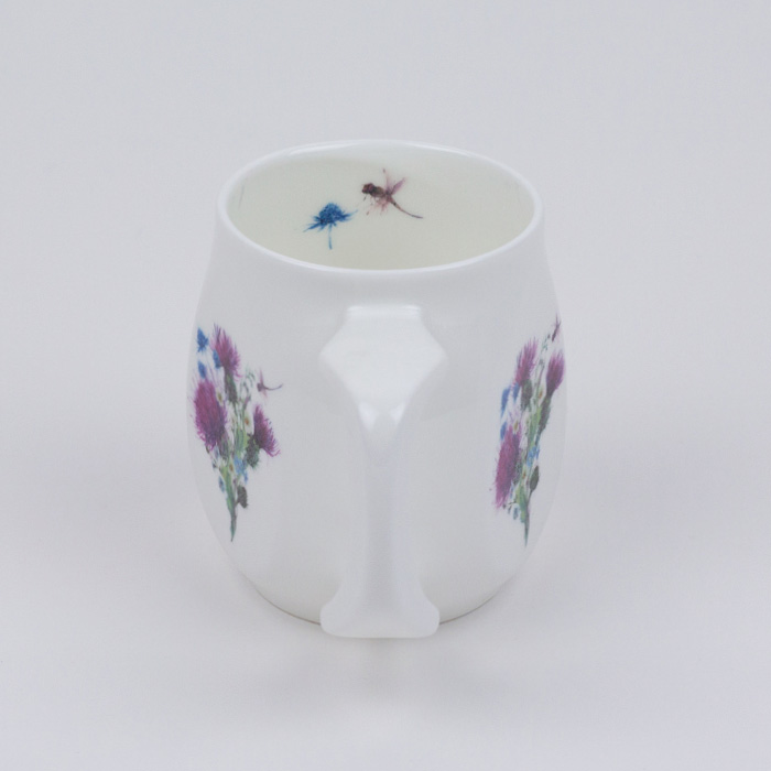 Dragonfly mug made from fine bone china and mad in Britain.