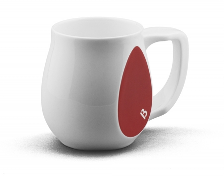 Ceramic red coffee mugs perfect as a novelty mug gift