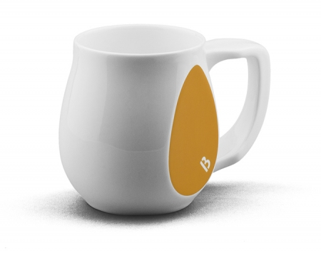 Joyful yellow mug