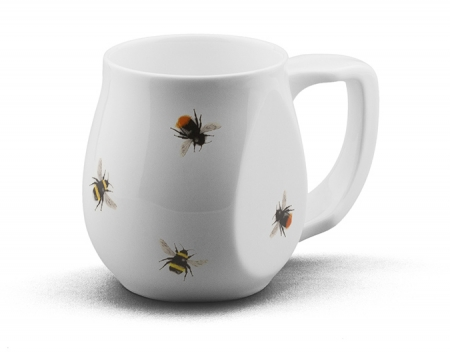 Ceramic red and yellow bee coffee mugs perfect as a novelty mug gift