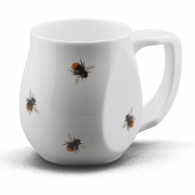 Ceramic red bee coffee mugs perfect as a novelty mug gift